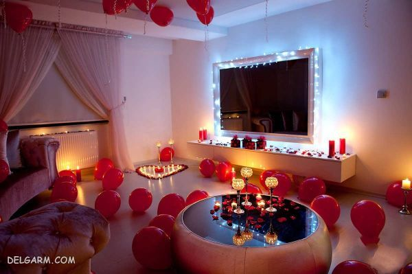 شام رمانتیک سالگرد ازدواج : تزیین رمانتیک