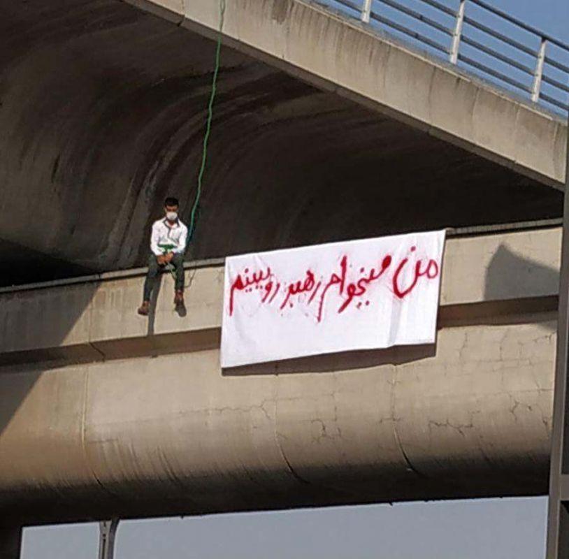 خودکشی پسر جوان از روی پل صدر تهران + عکس و فیلم
