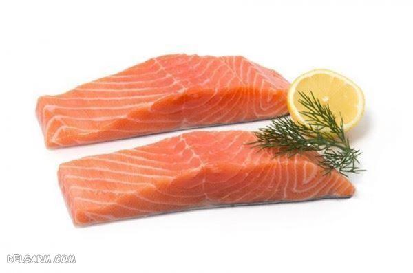 سالمون_موادغذایی مناسب برای رشد مو