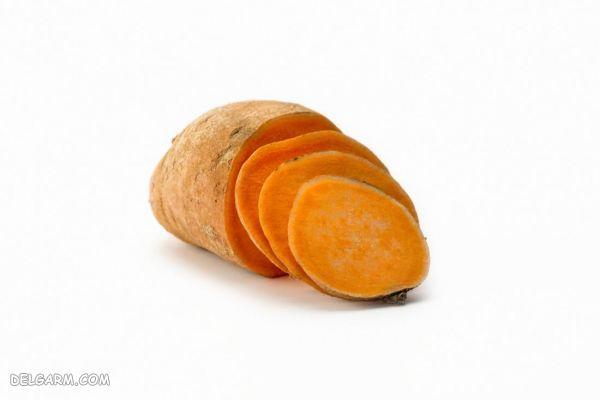 سیب زمینی شیرین موادغذایی مناسب برای رشد مو