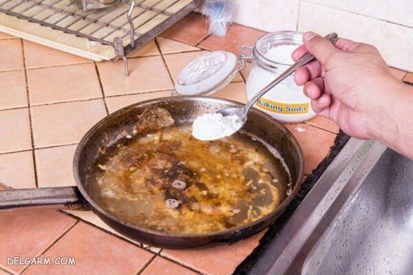 جوش شیرین پاک کننده ماهیتابه و قابلمه