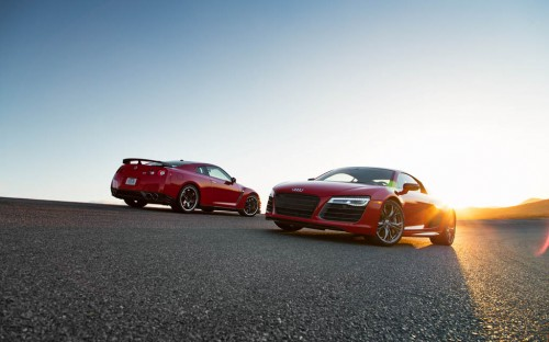 2014 Audi R8 V10 Plus and Nissan GT-R Track Pack