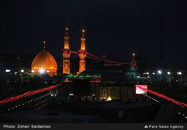 مراسم عزاداری شب تاسوعای حسینی در کربلای معلی
