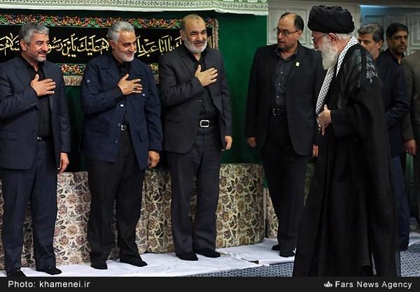 تصاویر مراسم عزاداری شام غریبان در حسینیه امام خمینی(ره)