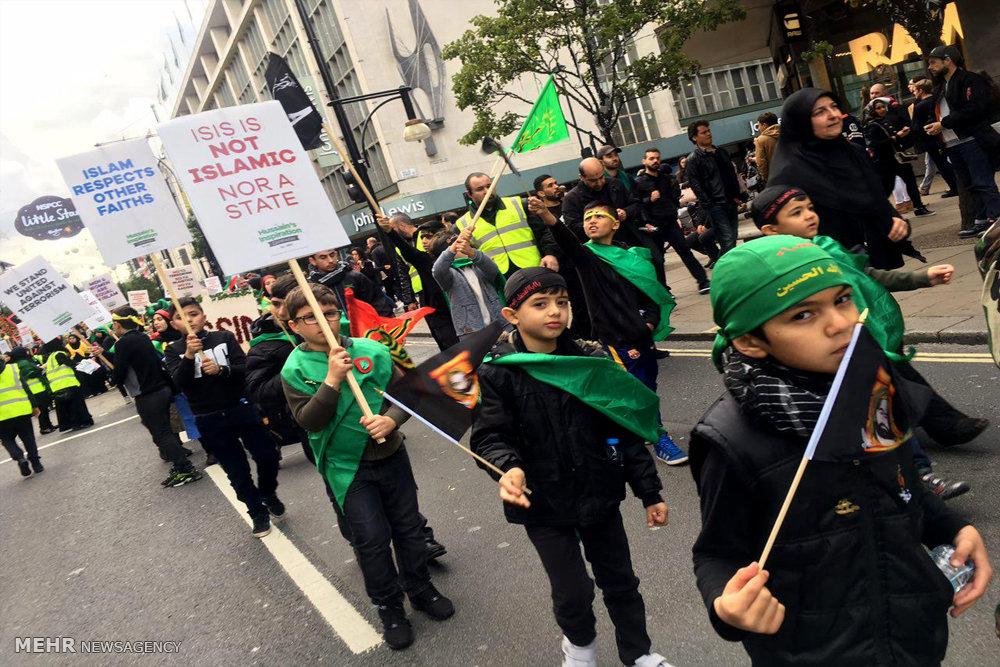 حرکت دسته عزاداری ظهر عاشورا در لندن