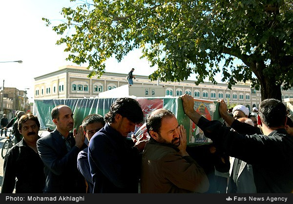 تشییع پنج شهید مدافع حرم در قم