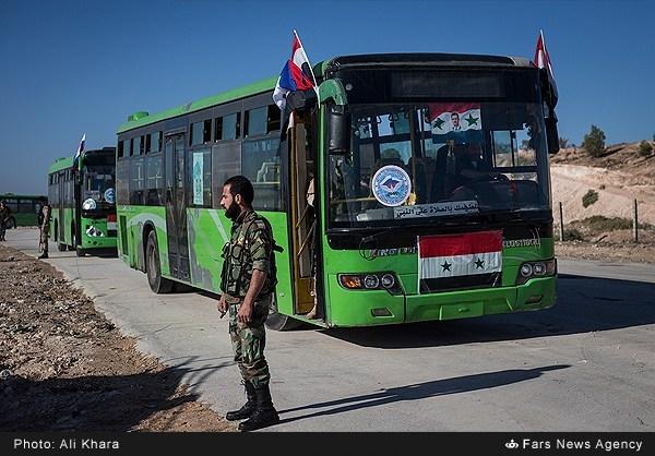 تمرین عملیات خروج بخشی از تروریستها از شرق حلب
