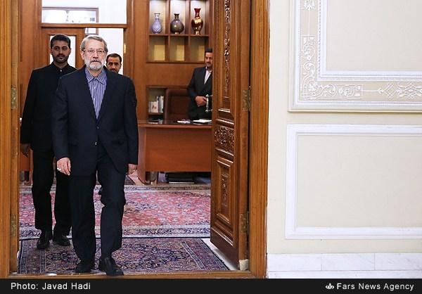 دیدار رییس جمهور اسلوونی با علی لاریجانی