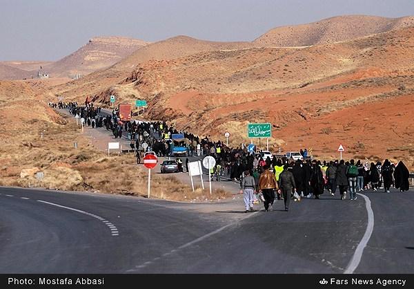 تصاویر هوایی از جاده های منتهی به مشهد در ایام شهادت امام رضا(ع)