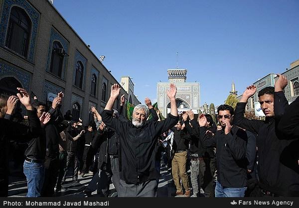 آیین سوگواری شهادت حضرت رسول (ص) در مشهد