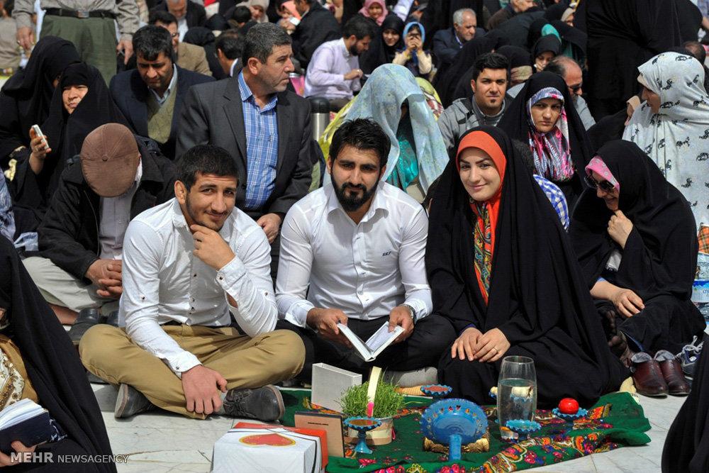 تصاویر مراسم تحویل سال نو در مسجد مقدس جمکران
