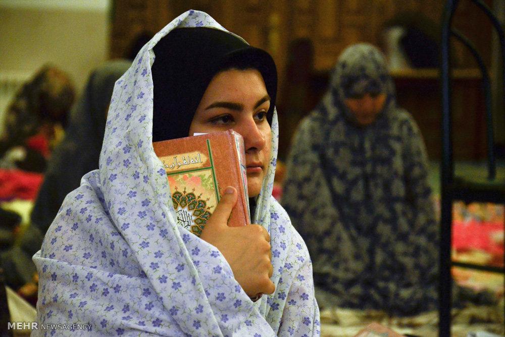 مراسم معنوی اعتکاف در مسجد النبی (ص) گرگان