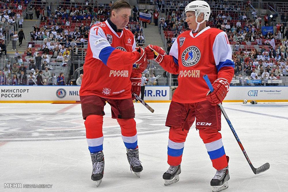 تصاویر حضور پوتین در رقابت های هاکی