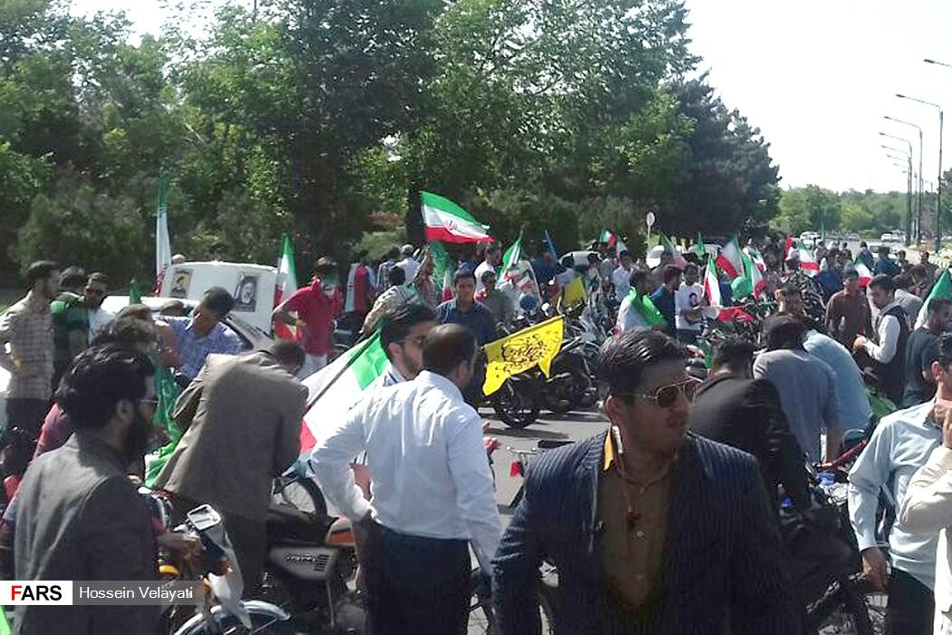 تصاویر استقبال از سید ابراهیم رئیسی در مشهد