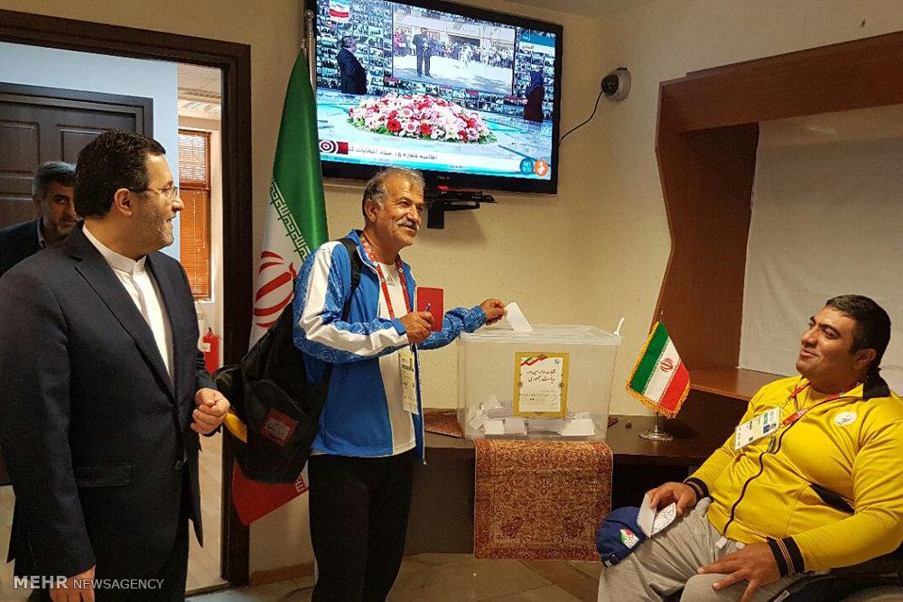انتخابات ریاست جمهوری ایران در باکو پایتخت جمهوری آذربایجان