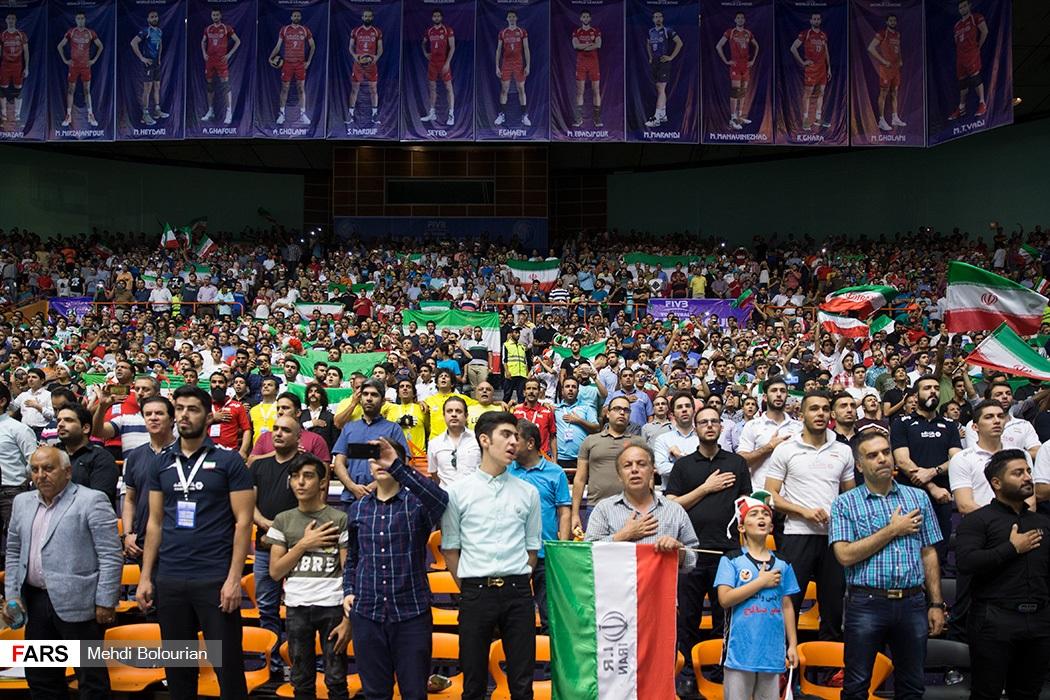 دیدار والیبال ایران و صربستان / لیگ جهانی والیبال