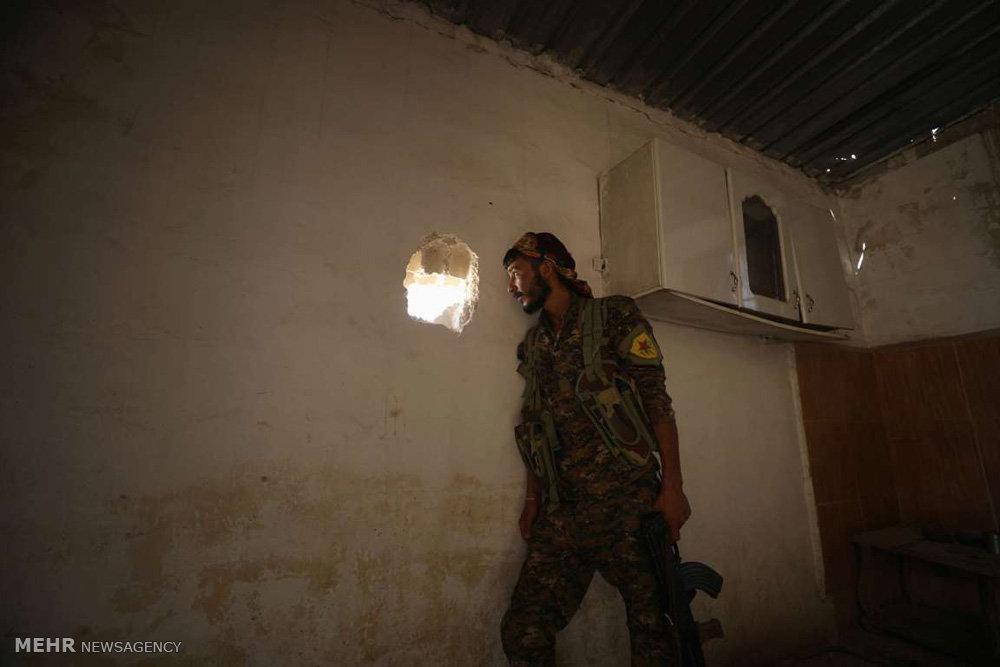تصاویر نبرد برای گرفتن رقه از داعش