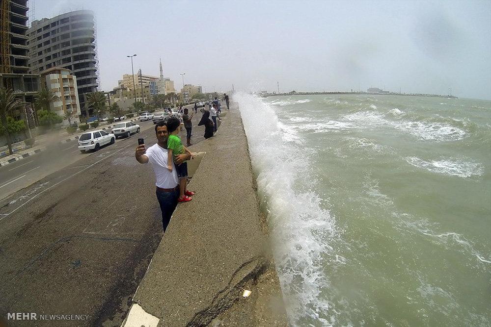 تصاویر طوفان در خلیج فارس و دریای عمان