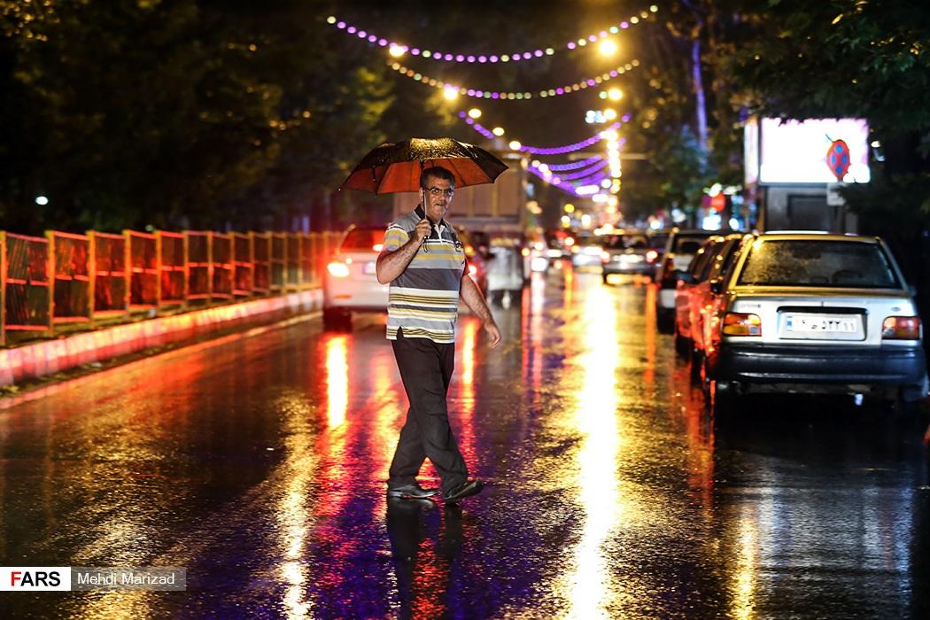 باران تابستانی تهران