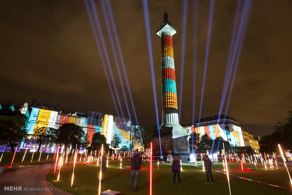 تصاویر جشنواره نور در ادینبورگ