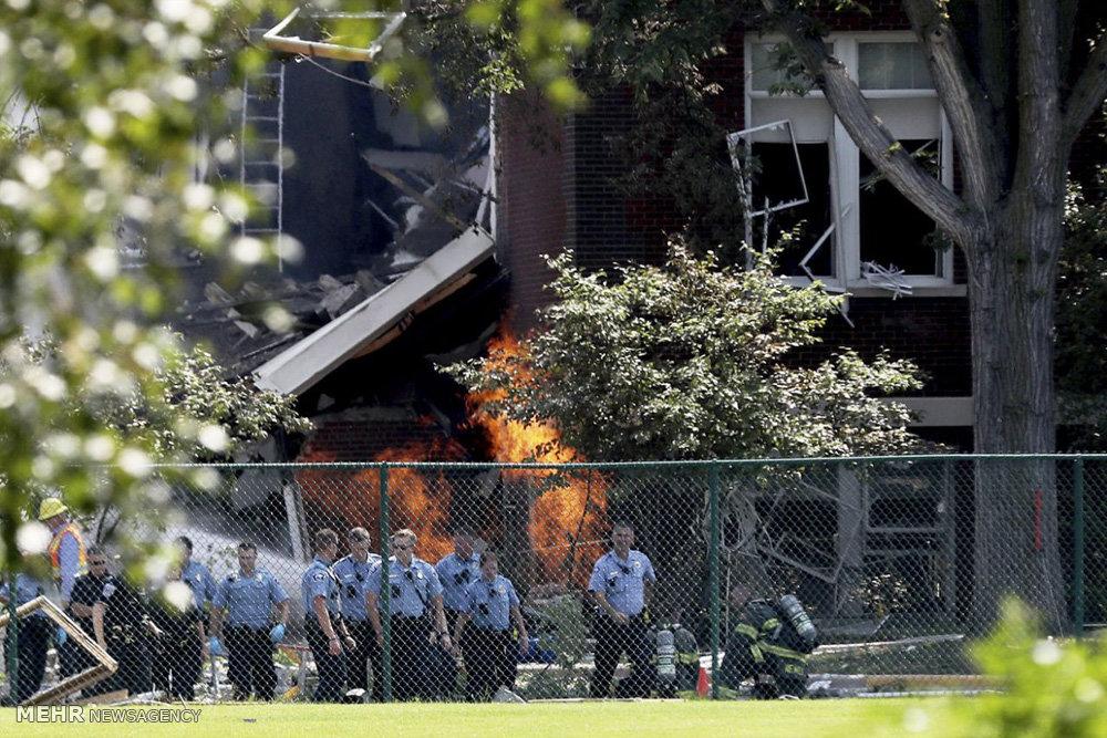 انفجار گاز در آمریکا
