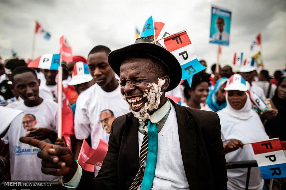 تصاویر انتخابات ریاست جمهوری در رواندا
