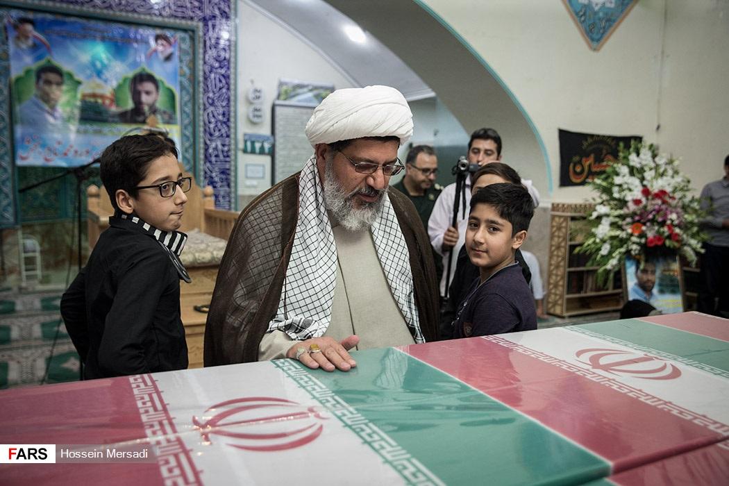 تشییع پیکر مطهر دو شهید مدافع حرم در تهران