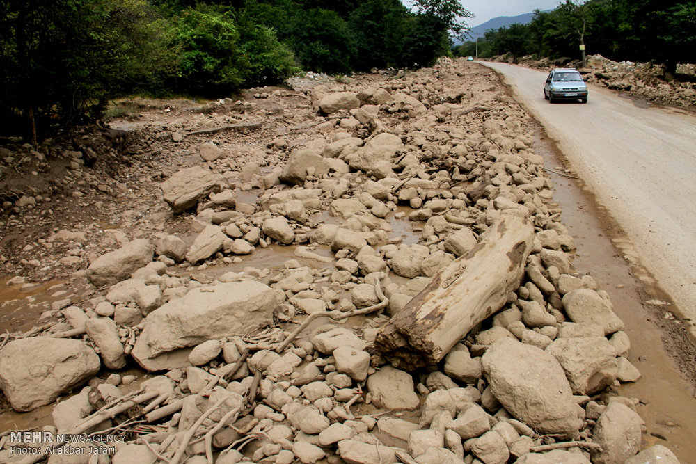 تصاویر خسارات سیل در استان گلستان