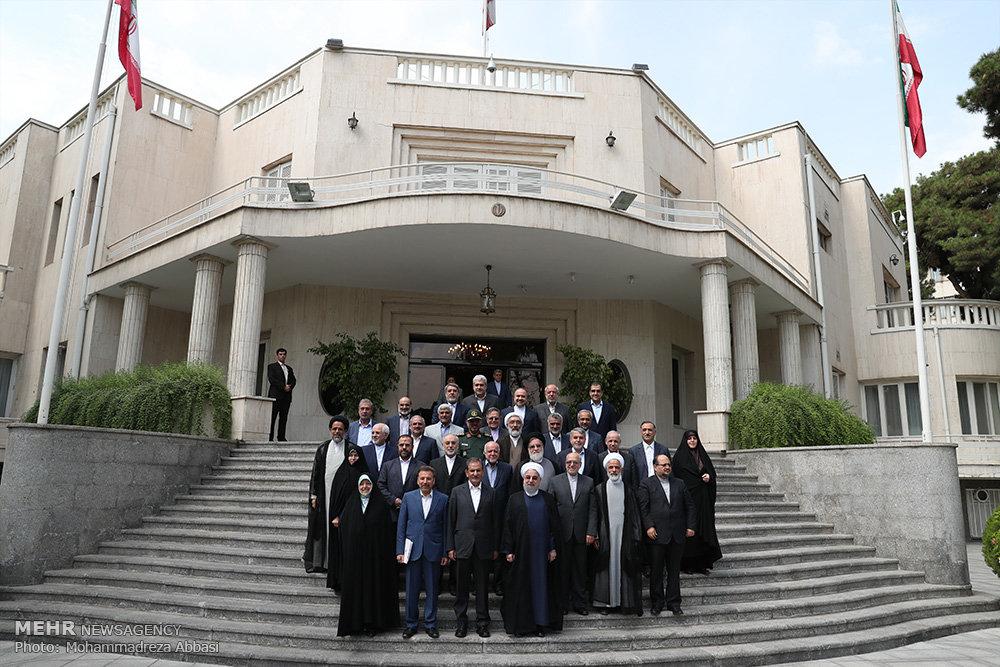 تصاویر آخرین جلسه هیات دولت یازدهم