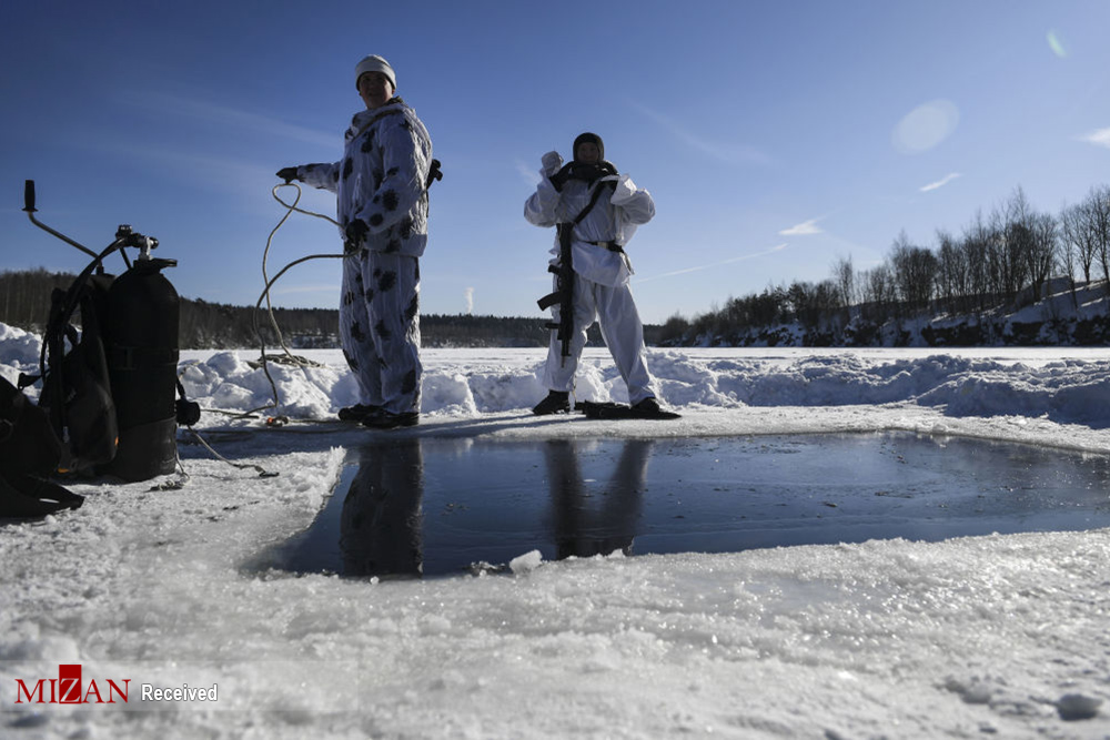تمرینات سربازان ارتش روسیه در نواحی قطبی