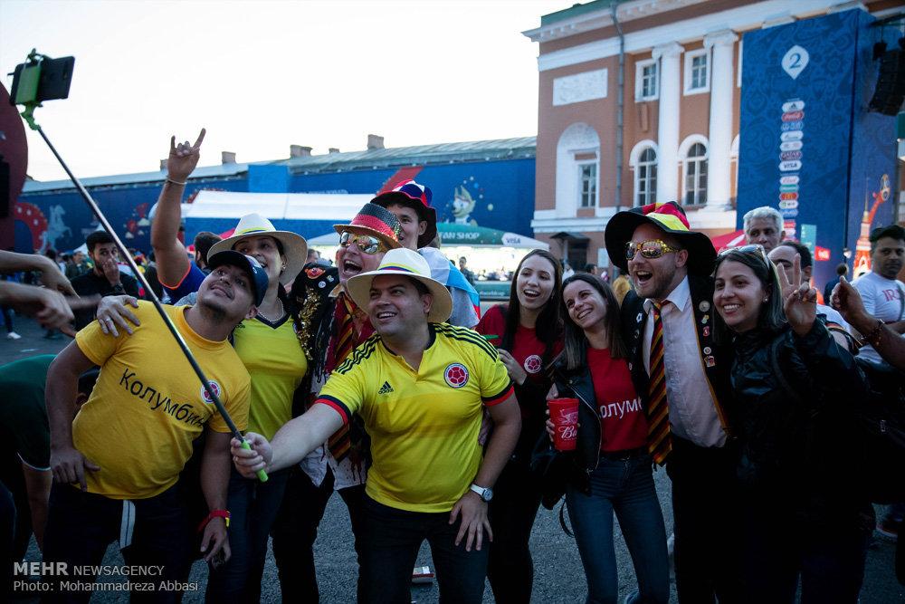 تصاویر شادی هواداران تیم های ملی در سن پترزبورگ