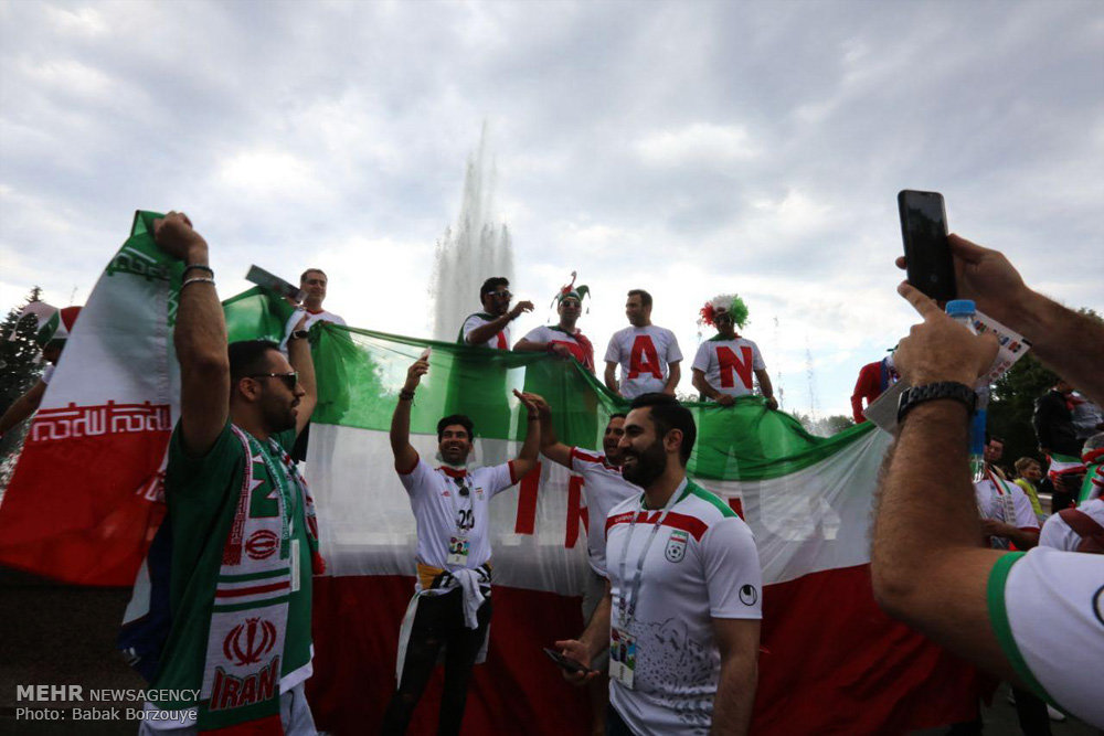 تصاویر حاشیه های دیدار تیم های فوتبال ایران و مراکش