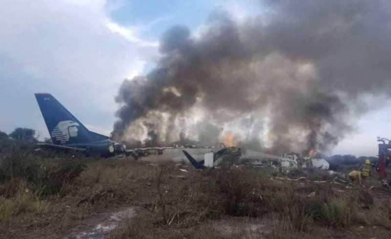 سقوط هواپیمای مسافربری با یکصد سرنشین در شمال مکزیک
