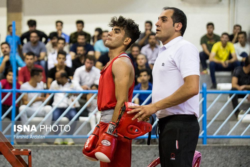 مسابقات بوکس قهرمانی جوانان کشور | سنندج/ تصاویر