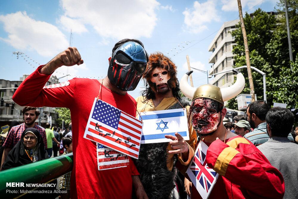 عکس ها و حواشی راهپیمایی روز قدس در تهران