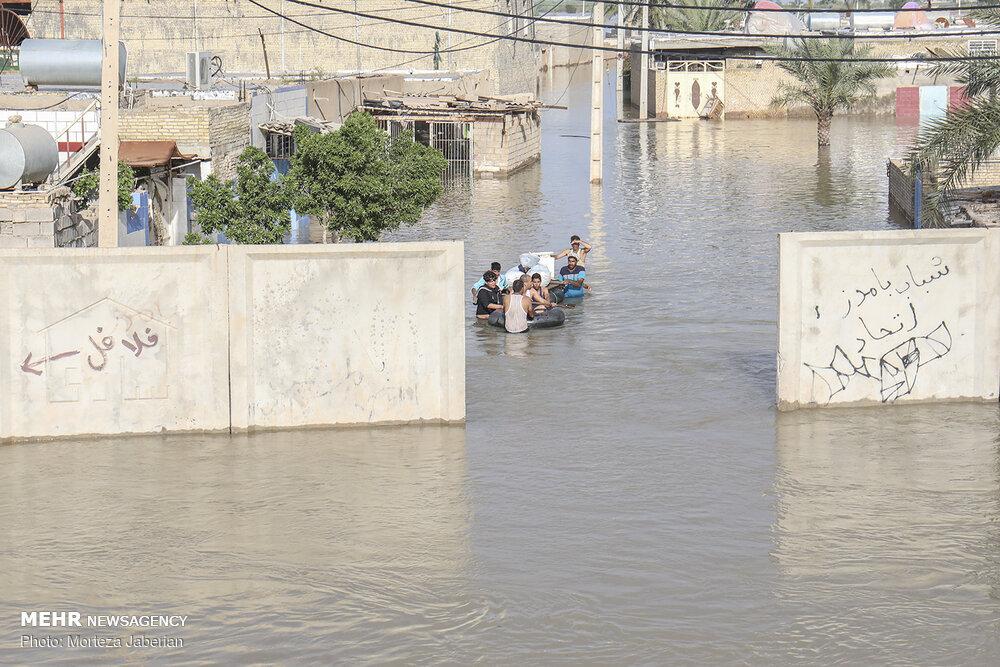 تصاویری از سیل در بامدژ خوزستان