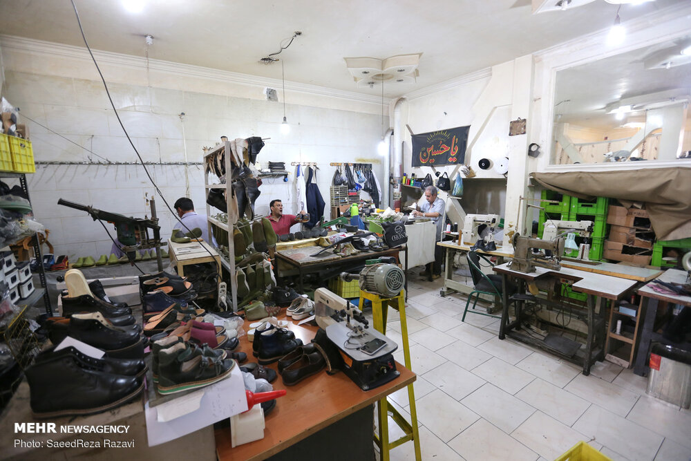 تصاویر کارگاه تولید کفش طبی