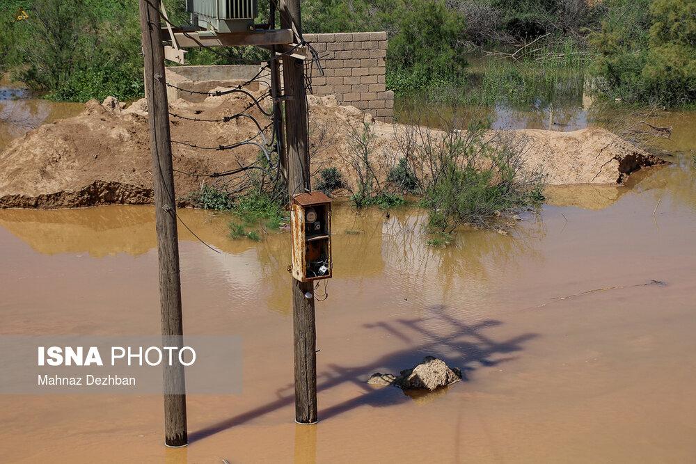 تصاویر جاری شدن در رودهای شوشتر