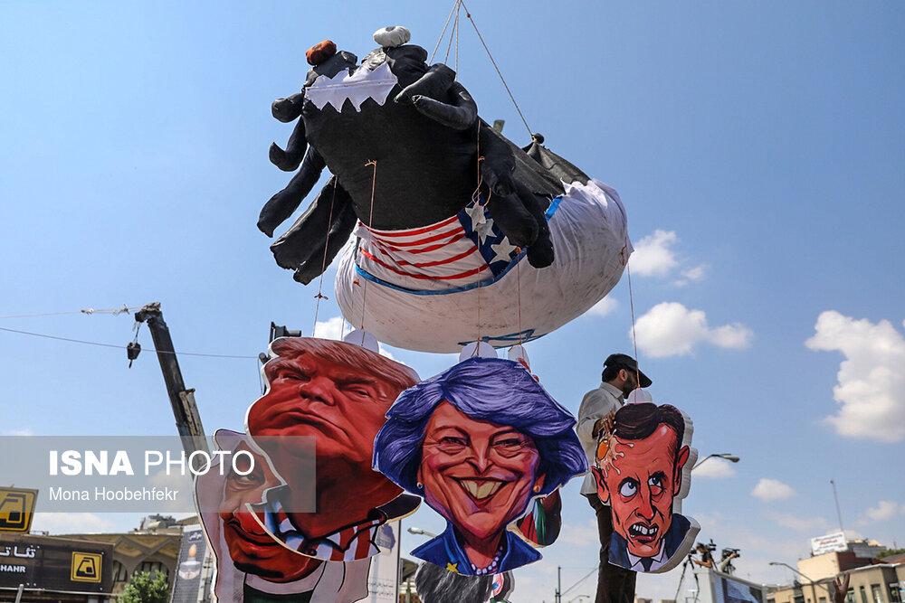 تصاویر راهپیمایی روز قدس در تهران (۲)