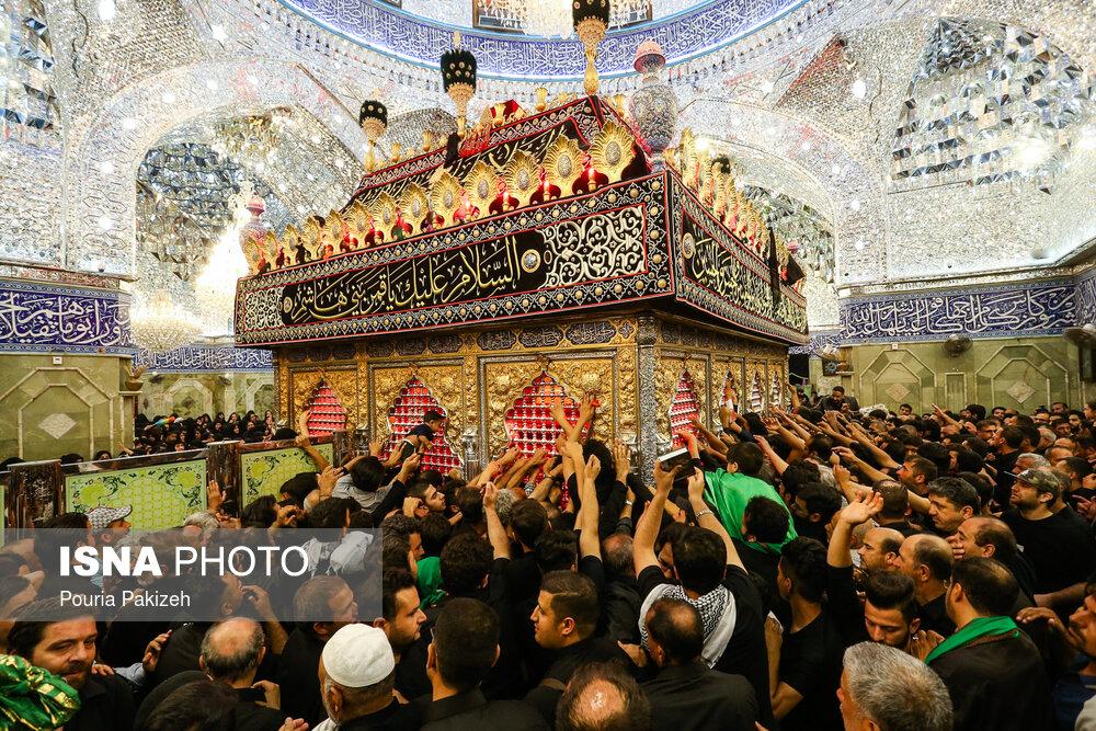 تصاویر شب تاسوعای حسینی (ع) در کربلا