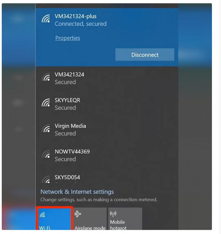آموزش فعال کردن Wifi روی ویندوز 10
