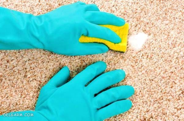 پاک کننده جادویی فرش با نمک