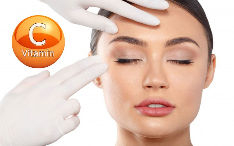 مالیدن ویتامین C روی پوست