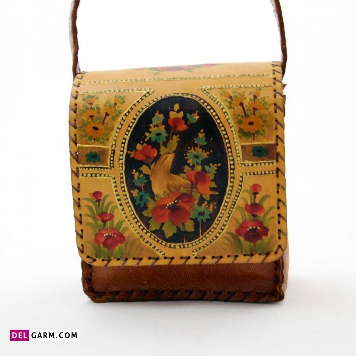 کیف چرم نقاشی شده
