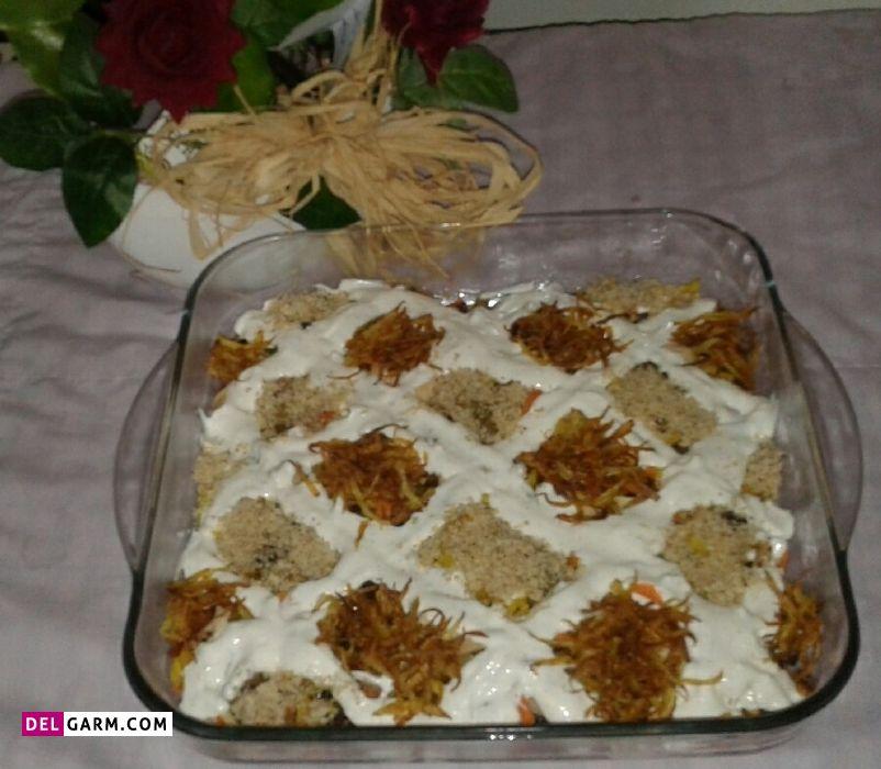 روش دوم دستور پخت خوارک قفقازی با گوشت گوساله