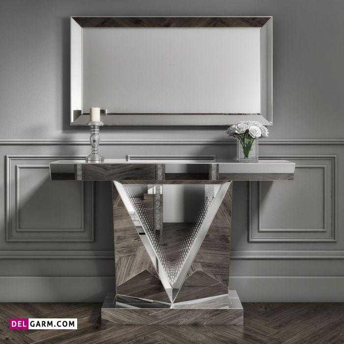 میز کنسول آینه ای