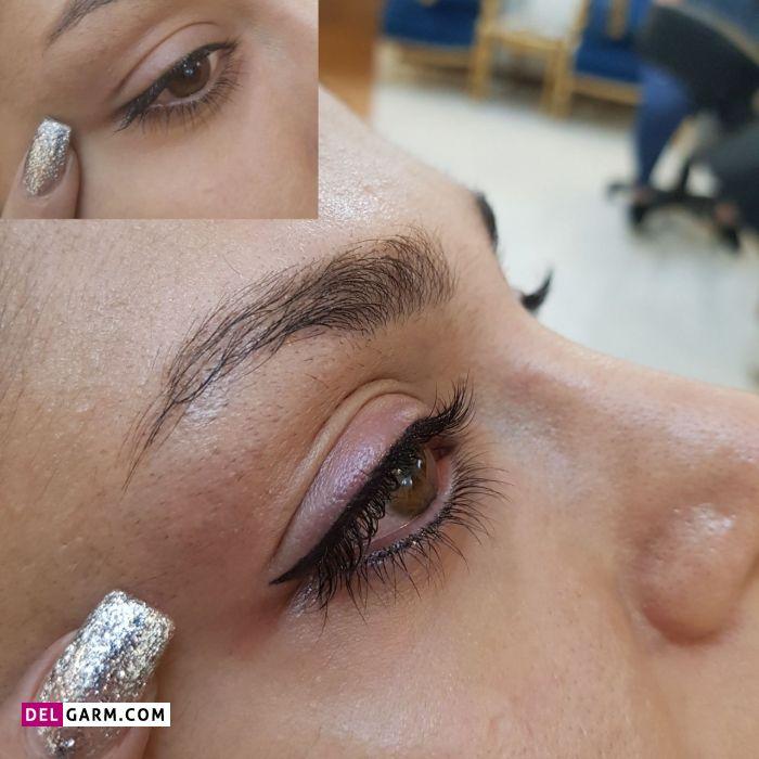 مراقبت بعد از تاتو خط چشم