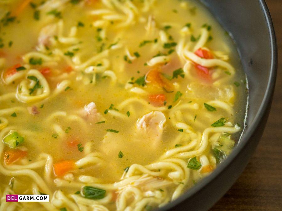 آب مرغ و سوپ