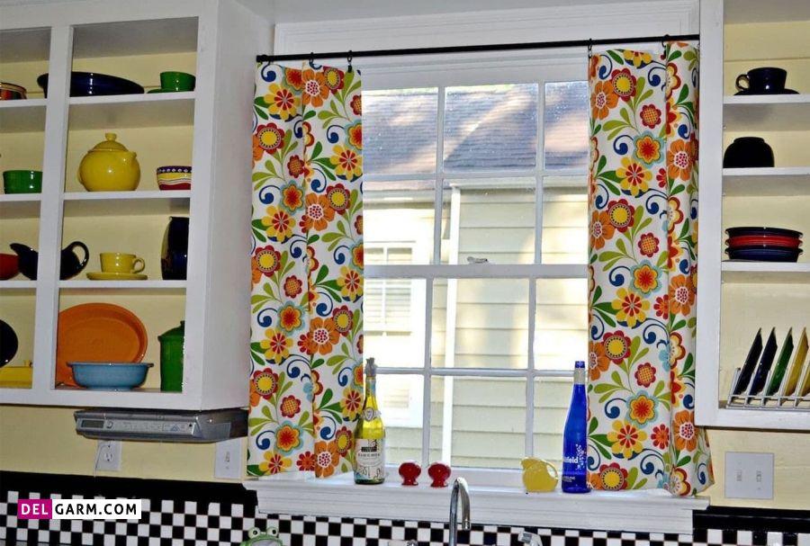 انواع مدل های پرده آشپزخانه