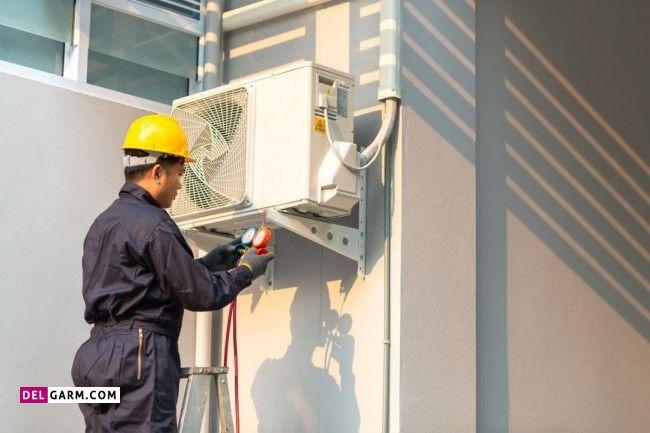 مراقبت در زمان نصب کولر گازی و داکت اسپلیت